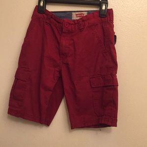 Levi's red boy shorts